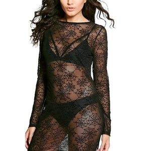 nwt sheer boohoo halloween spider web dress size 6
